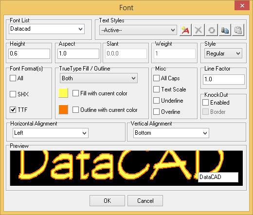 Access Text Vertical Alignment : Datacad products what s new in