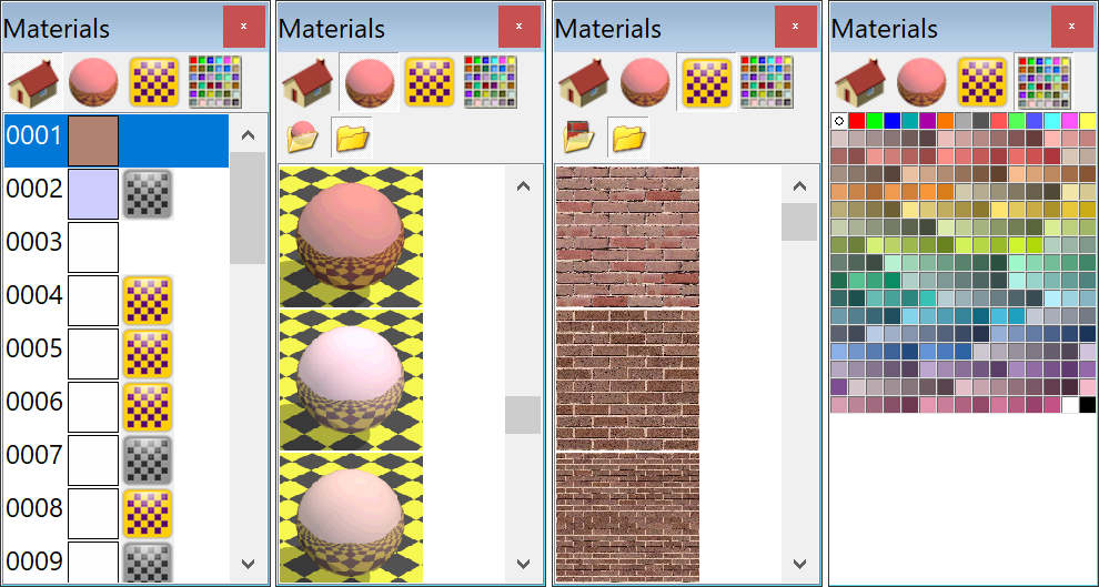 Object Viewer's Material Toolbar