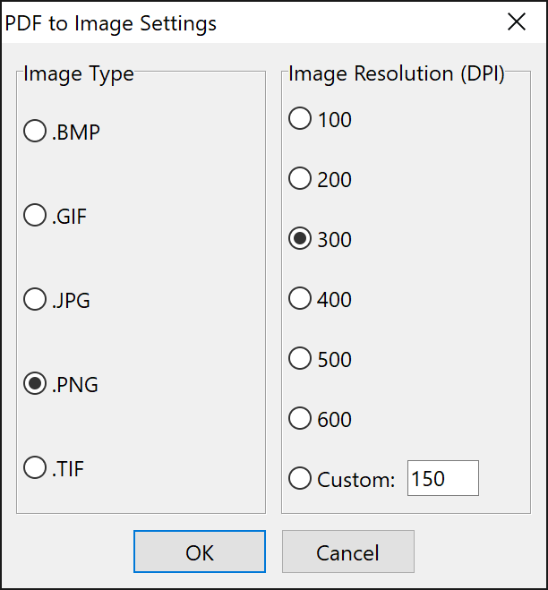 Insert PDF as Image