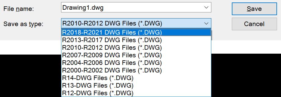 Export DWG Dialog