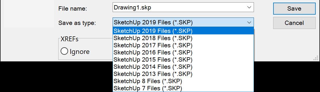 Export SketchUp Dialog